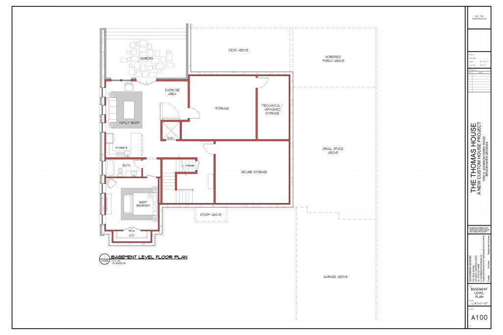 WilliamMarkDesigns Johnson Ferry Road Property Floorplan Basement Level