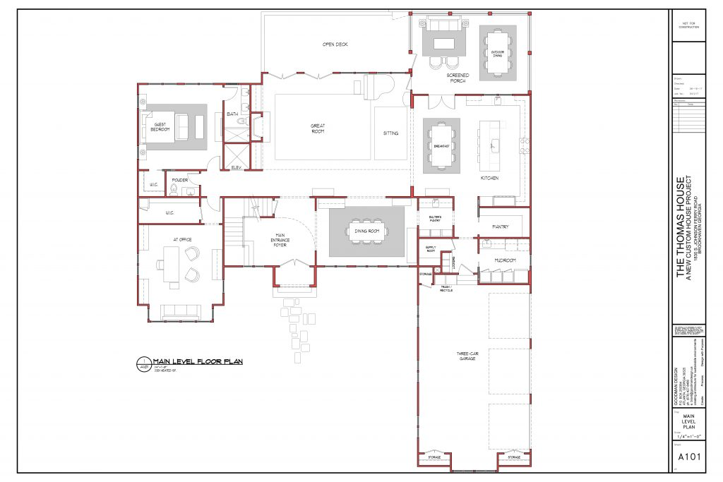 WilliamMarkDesigns Johnson Ferry Road Property Floorplan Main Level
