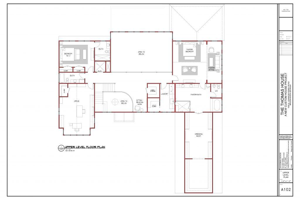 WilliamMarkDesigns Johnson Ferry Road Property Floorplan Upper Level