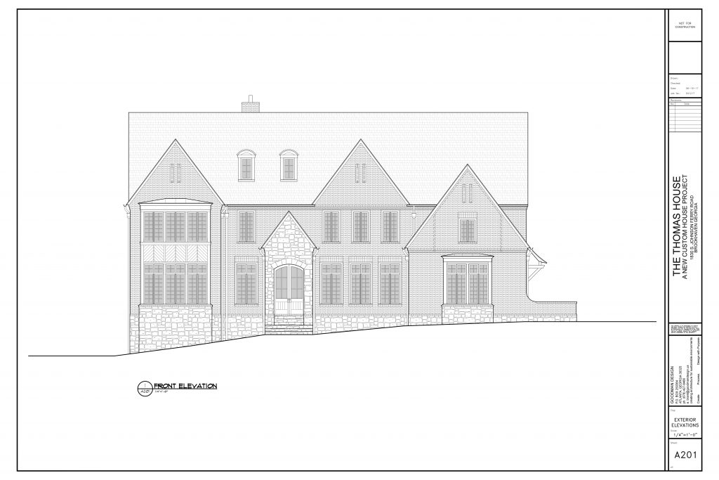 WilliamMarkDesigns Johnson Ferry Road Property Front Elevation