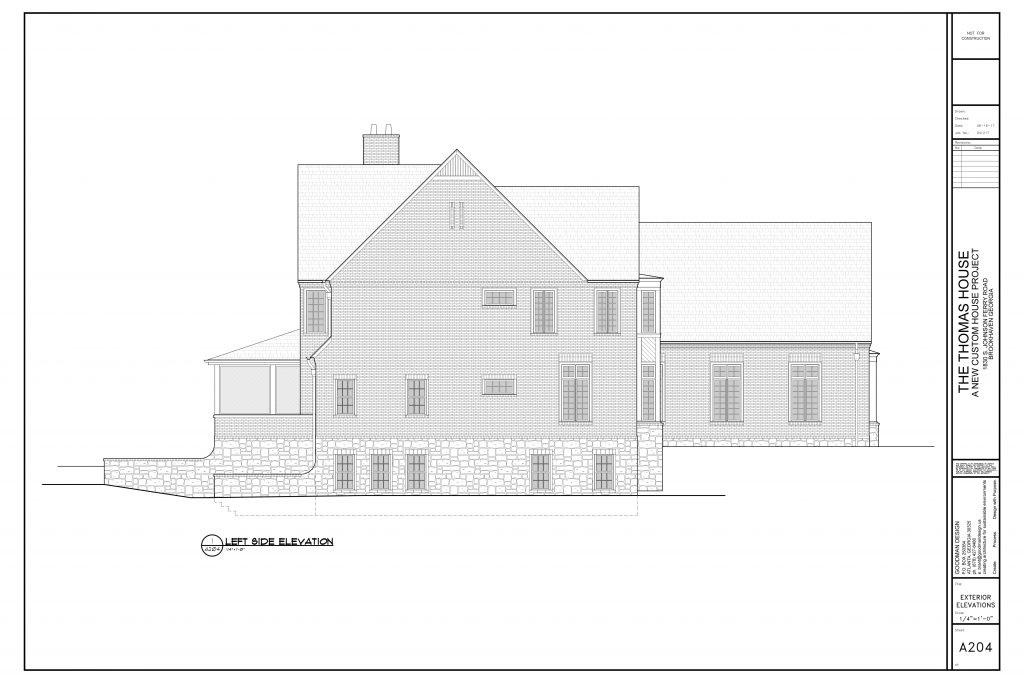 WilliamMarkDesigns Johnson Ferry Road Property Left Elevation