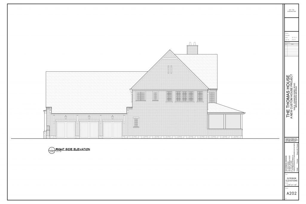 WilliamMarkDesigns Johnson Ferry Road Property Right Elevation