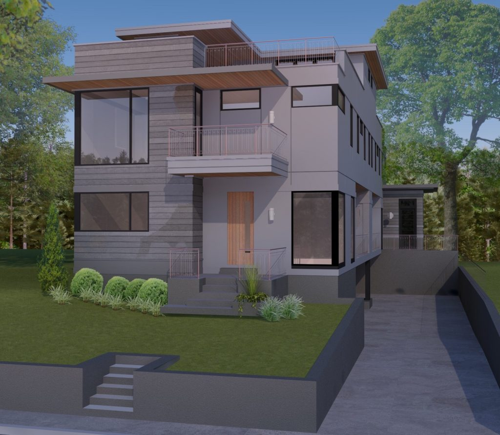 WilliamMarkDesigns Angier Duplex Unit A 3D Rendering