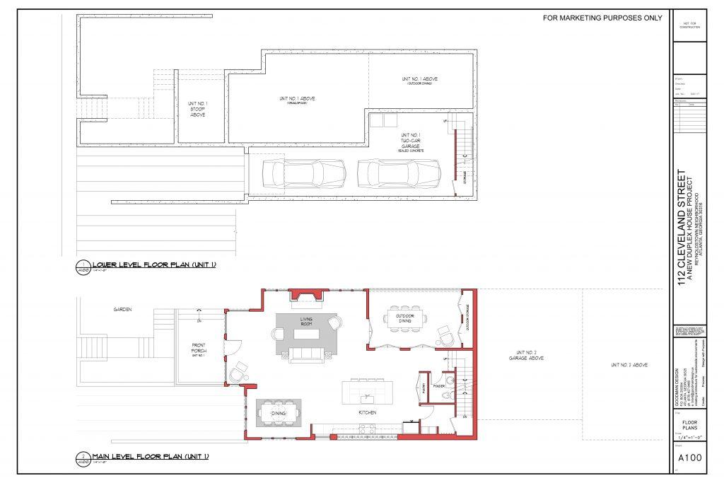 WilliamMarkDesigns Cleveland Street Property Lower Level Floorplan