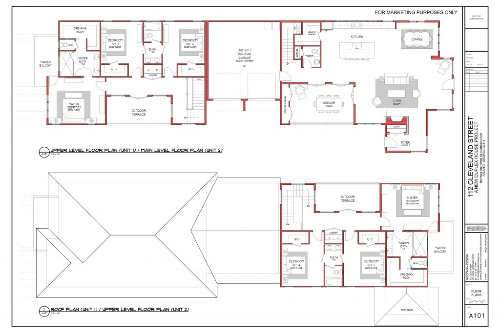 WilliamMarkDesigns Cleveland Street Property Upper and Main Level Floorplan
