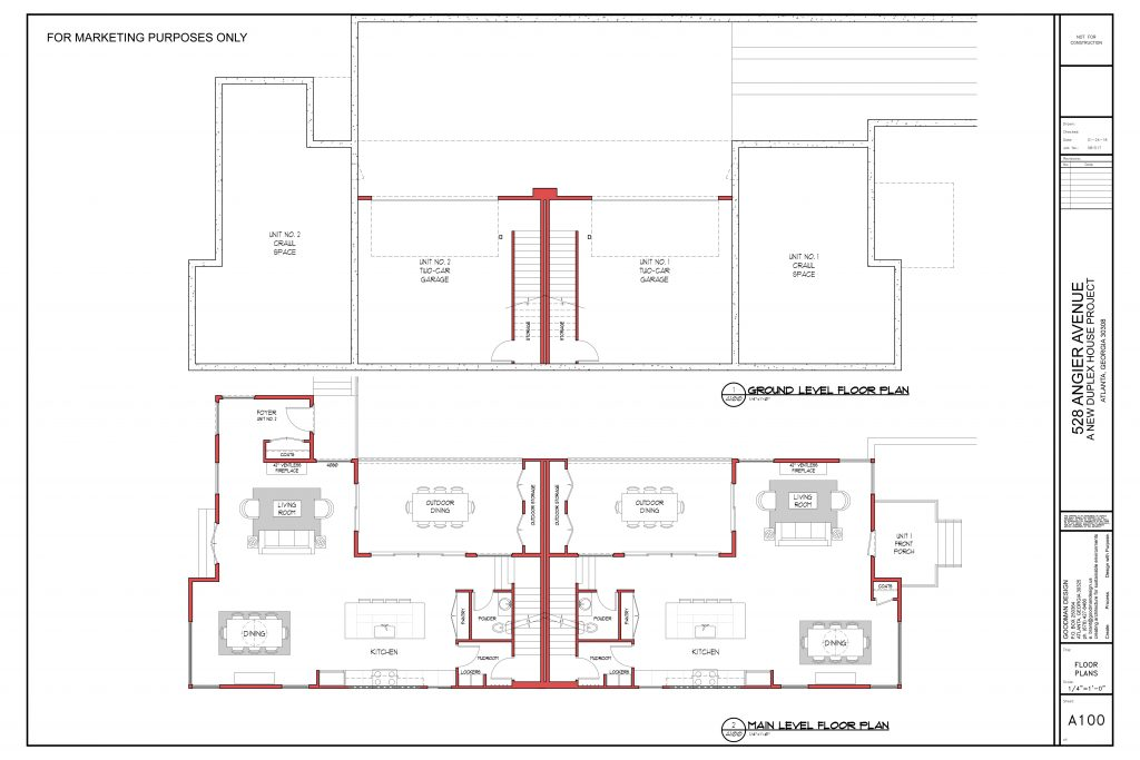 WilliamMarkDesigns Angier Property Basement and Main Level Floorplan