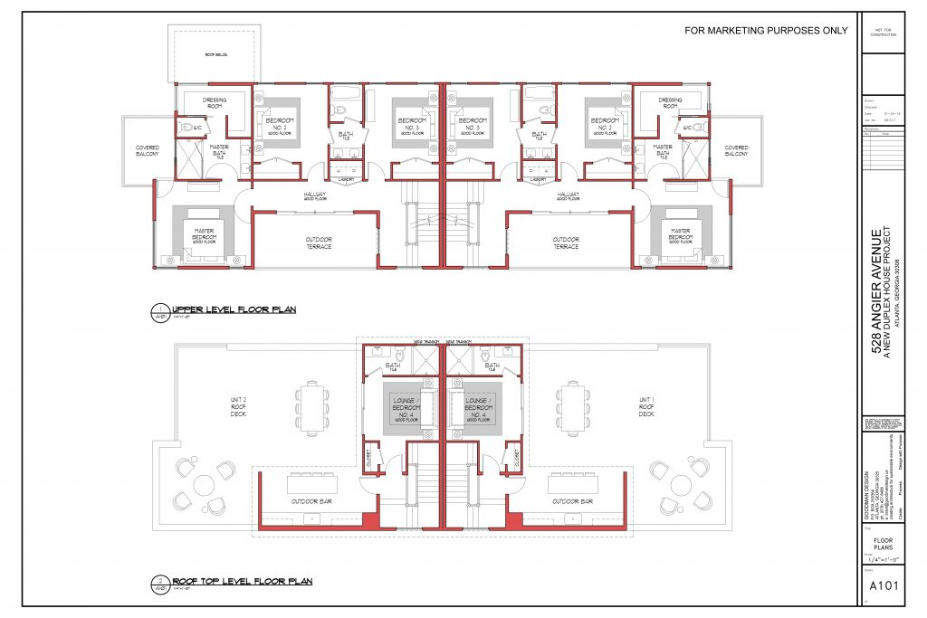 WilliamMarkDesigns Angier Property Second Floor and Rooftop Floorplan