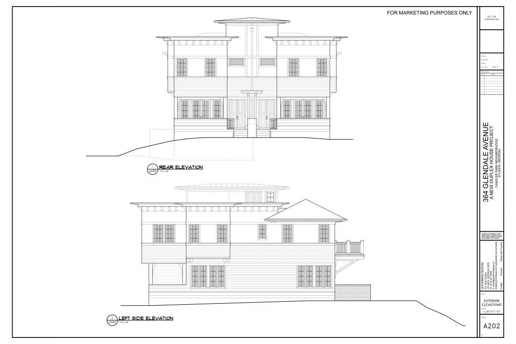 WilliamMarkDesigns Glendale Property Back and Left Elevations