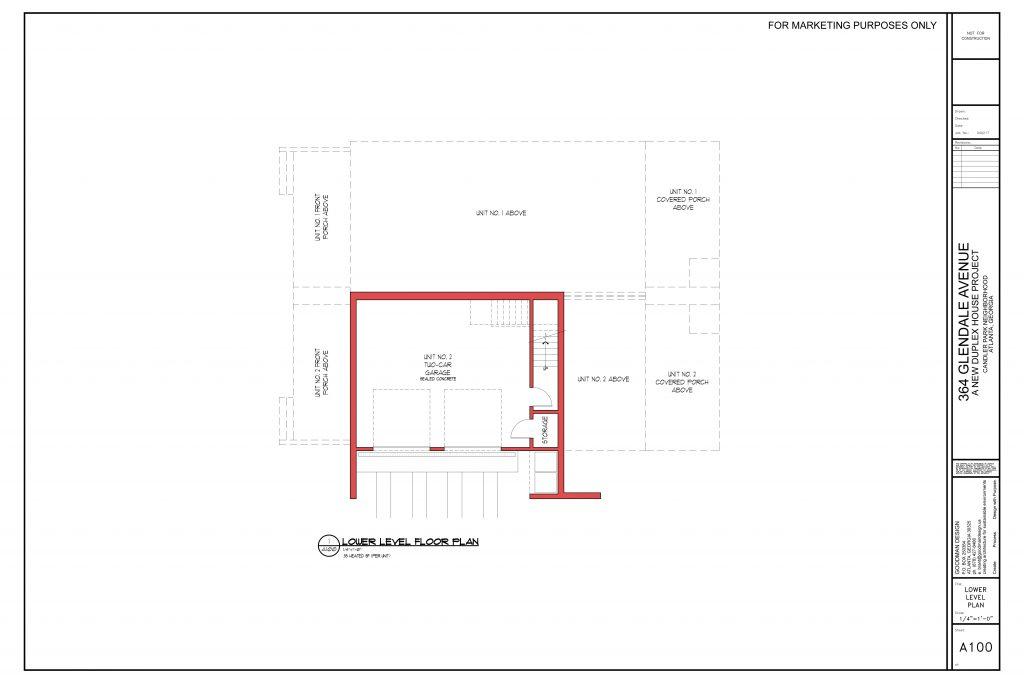 WilliamMarkDesigns Glendale Property Basement Floorplan