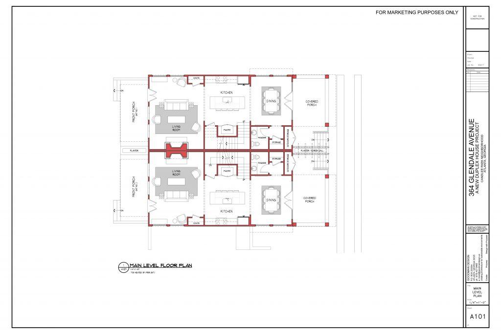 WilliamMarkDesigns Glendale Property Main Level Floorplan