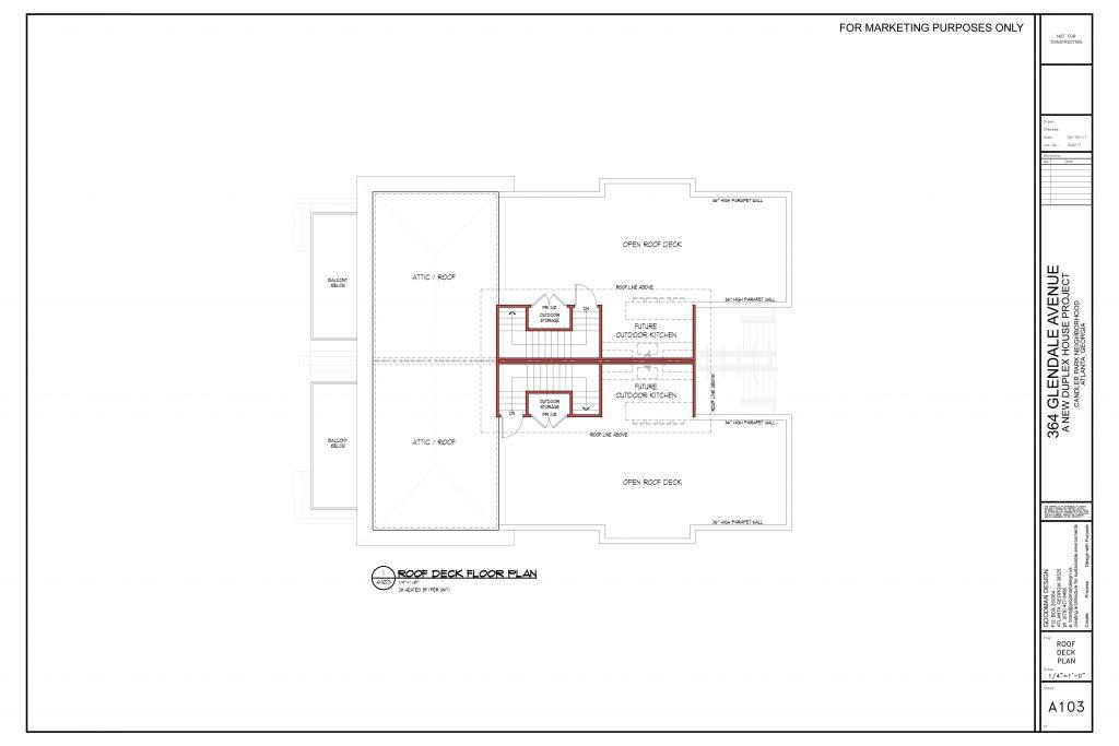WilliamMarkDesigns Glendale Property Rooftop Floorplans