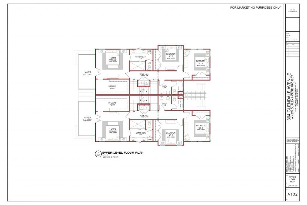 WilliamMarkDesigns Glendale Property Upper Level Floorplan