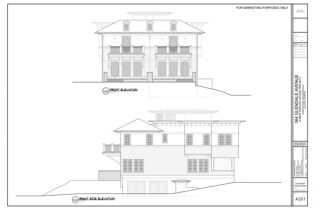 WilliamMarkDesigns Glendale Property Front and Right Elevations