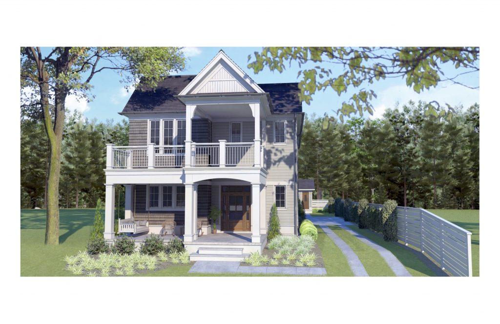 WilliamMarkDesigns Hill Duplex Front 3D Rendering
