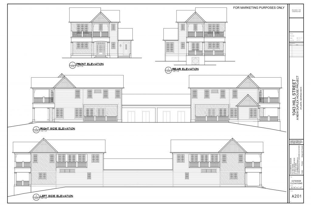 WilliamMarkDesigns Hill Duplex Elevations