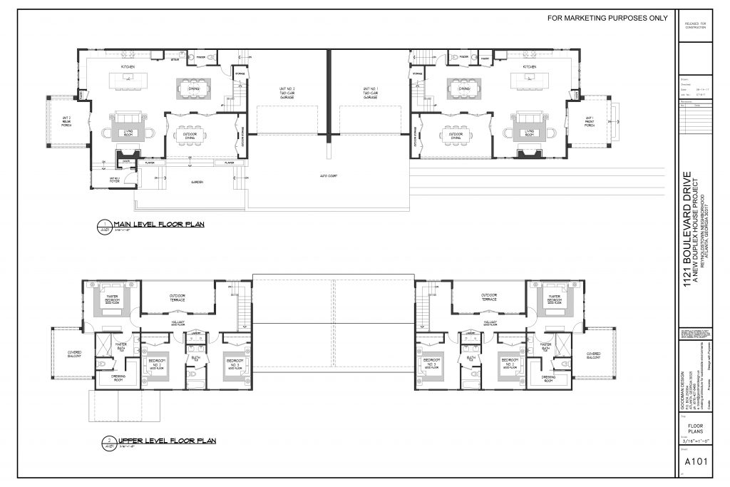 WilliamMarkDesigns Boulevard Duplex Floor Plan