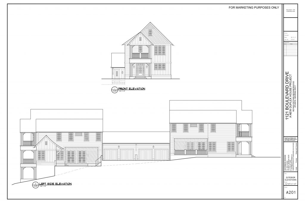 WilliamMarkDesigns Boulevard Duplex Front Left Elevation