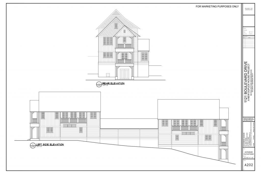 WilliamMarkDesigns Boulevard Duplex Rear Left Elevation