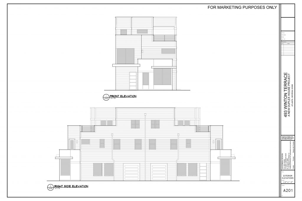 WilliamMarkDesigns Winton Terrace Duplex Front Elevation