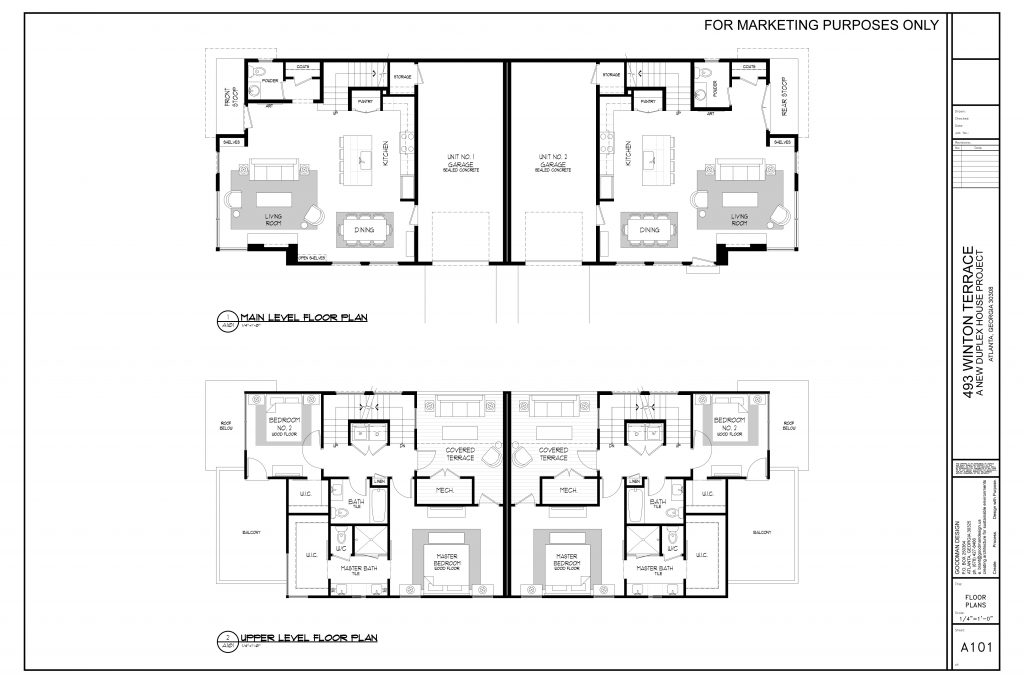 WilliamMarkDesigns Winton Terrace Duplex Main Level Floor Plan