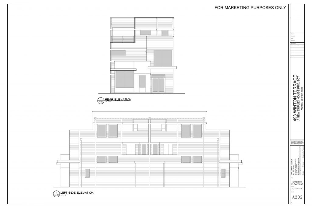 WilliamMarkDesigns Winton Terrace Duplex Rear Elevation