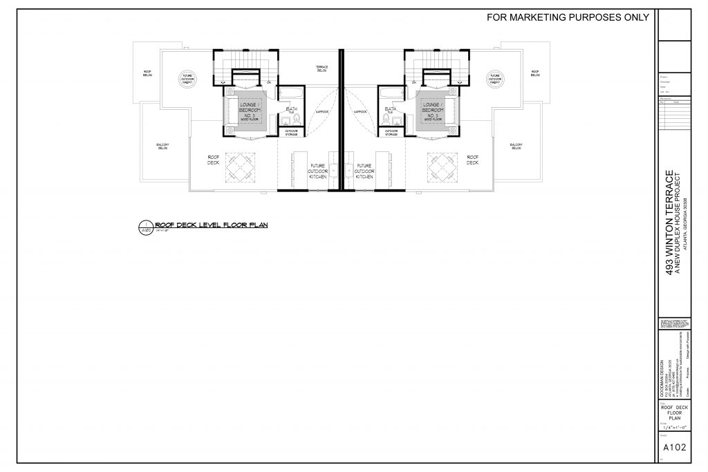 WilliamMarkDesigns Winton Terrace Duplex Roof Deck Floorplan