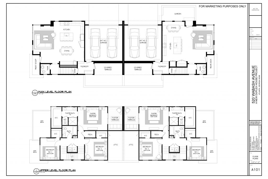 WilliamMarkDesigns 520 Wabash Property Main and Upper Floor Plan