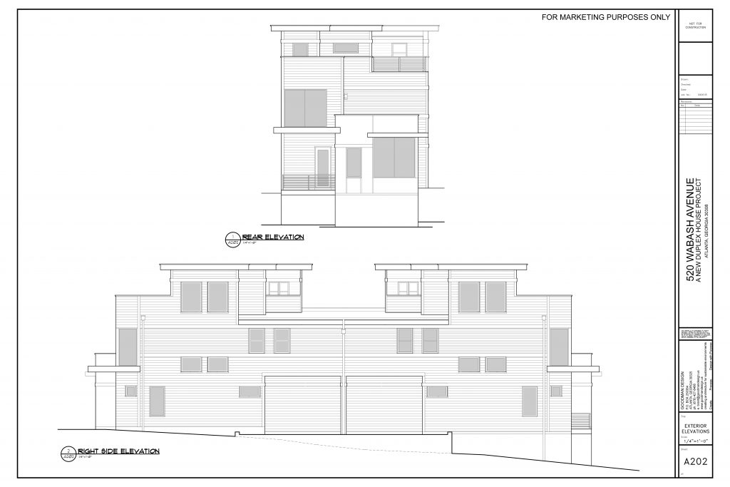 WilliamMarkDesigns 520 Wabash Property Rear and Right Elevation