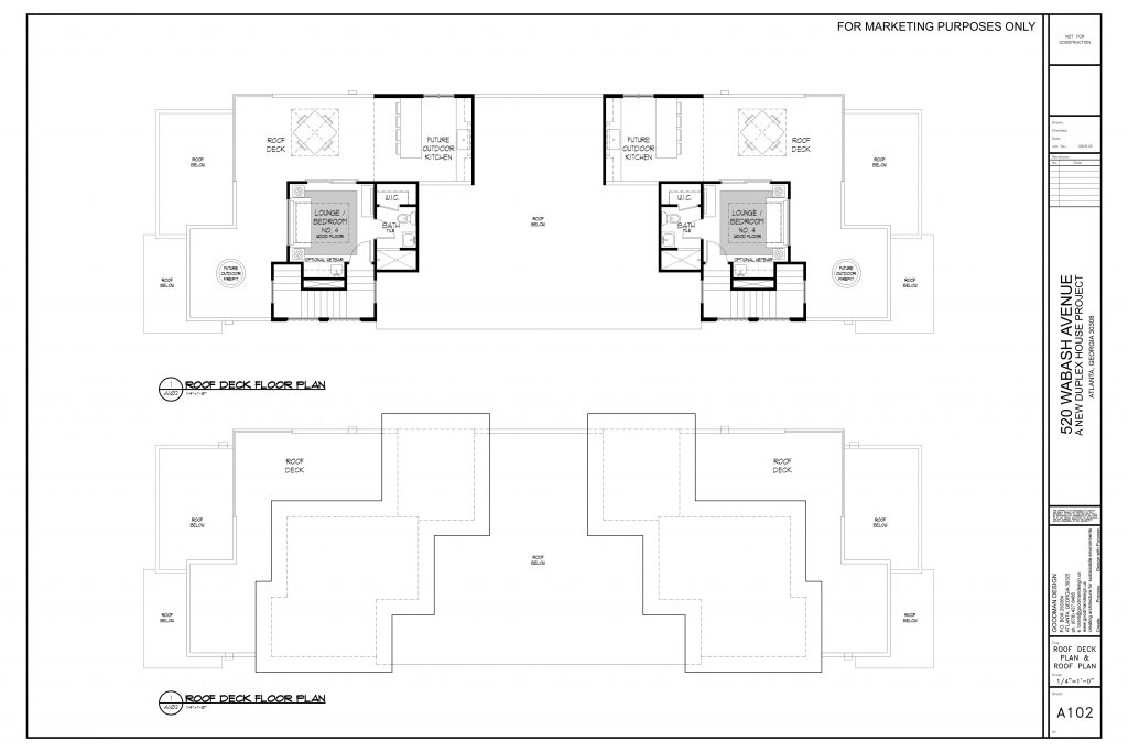 WilliamMarkDesigns 520 Wabash Property Rooftop Deck Floor Plan