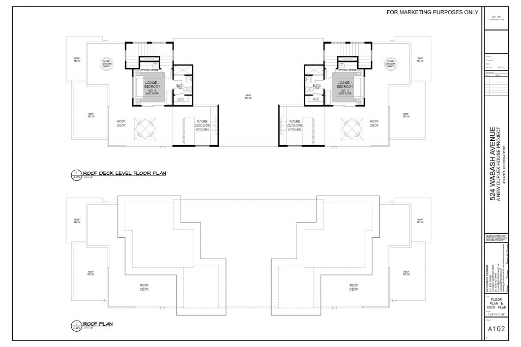WilliamMarkDesigns 520 Wabash Property Rooftop Deck Floor Plan