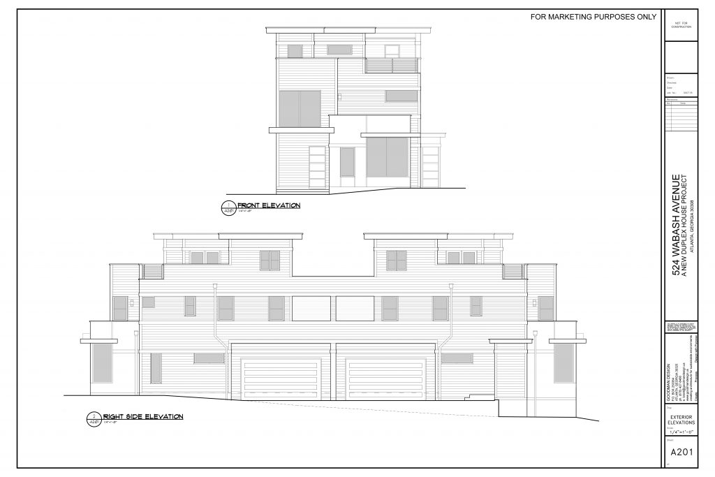 WilliamMarkDesigns 520 Wabash Property Front and Right Elevation