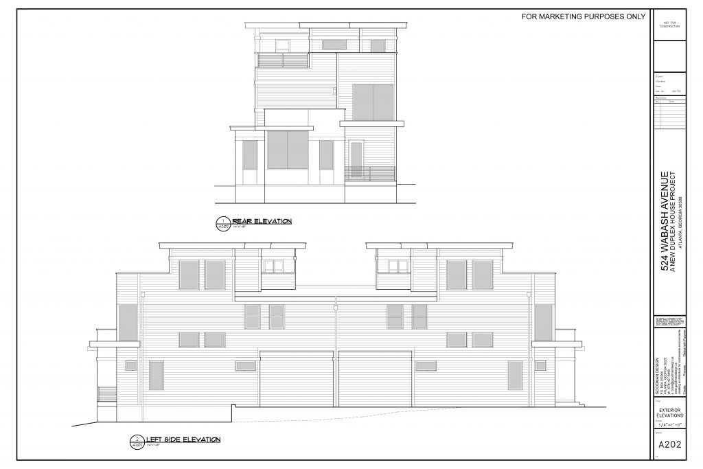 WilliamMarkDesigns 520 Wabash Property Rear and Left Elevation