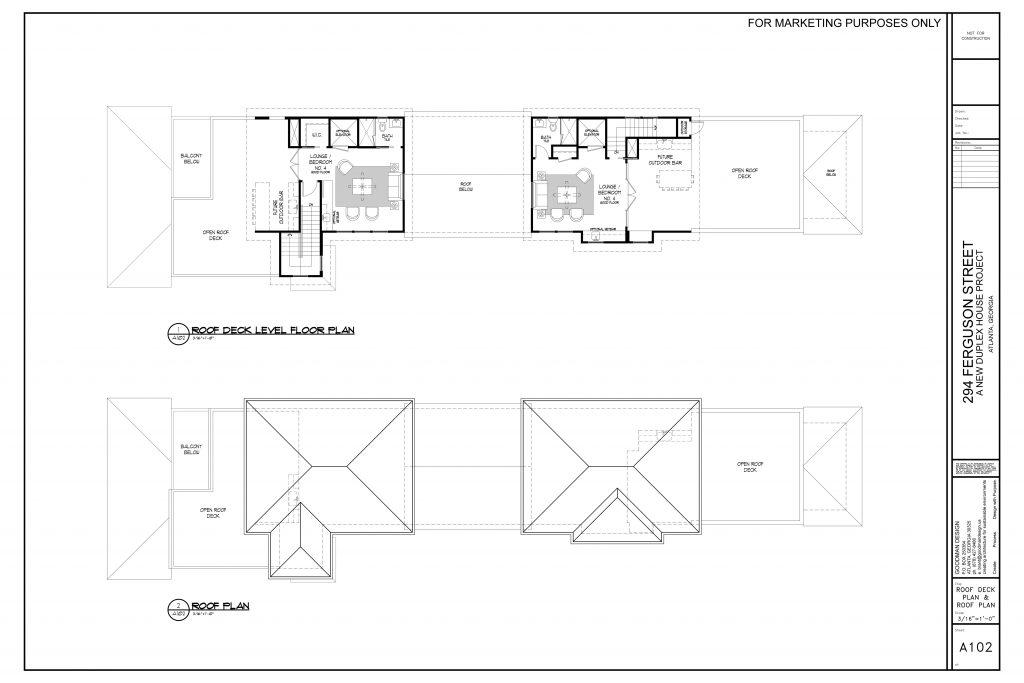Ferguson Street roof top floor plan