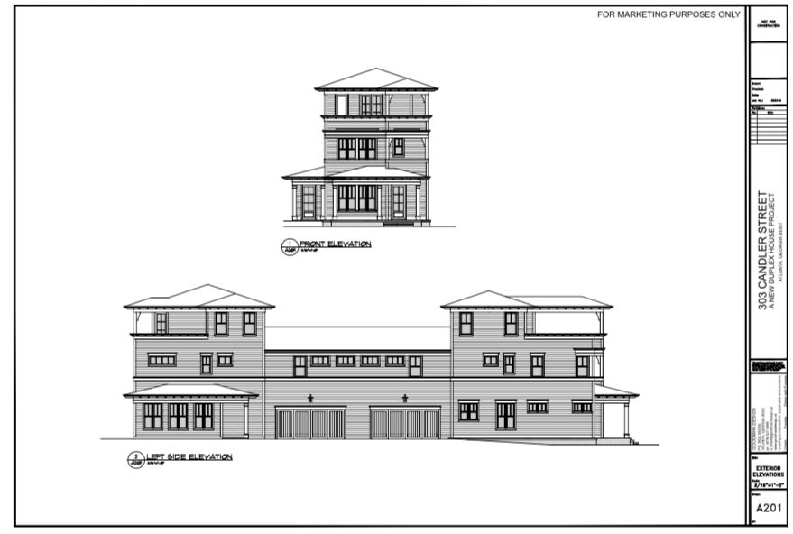WilliamMarkDesigns 303 Candler Street Elevation 1