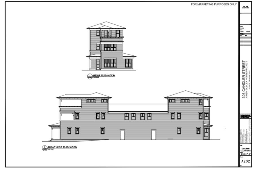 WilliamMarkDesigns 303 Candler Street Elevation 2