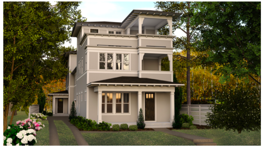 WilliamMarkDesigns 303 Candler Street 3D Rendering Front View