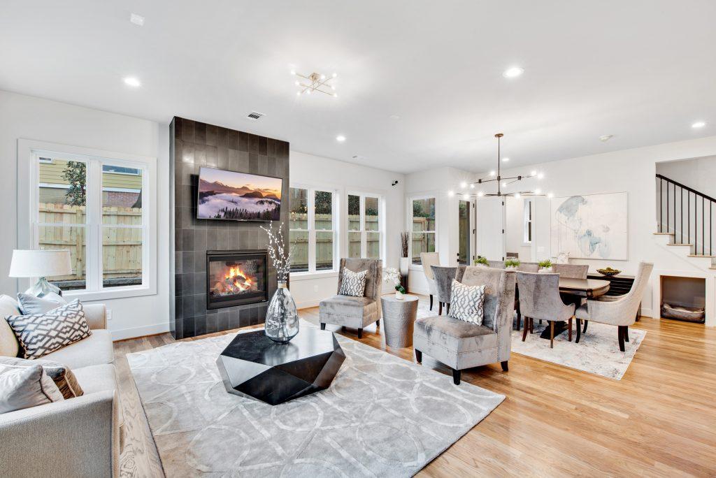 WMD 303 & 305 Candler Furnished Living Room 1
